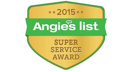 Angie's List Super Service Award 2015 badge