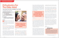 Orthodontics for the Older Adults article
