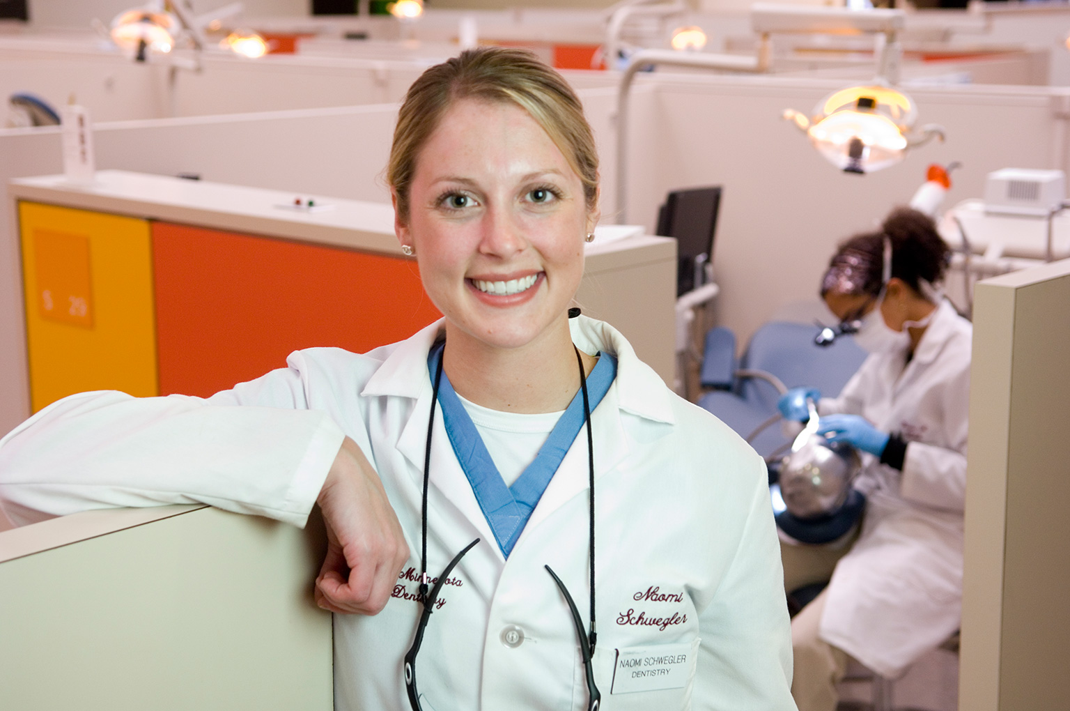 University of Minnesota School of Dentistry student posing for a photo in the dental clinic