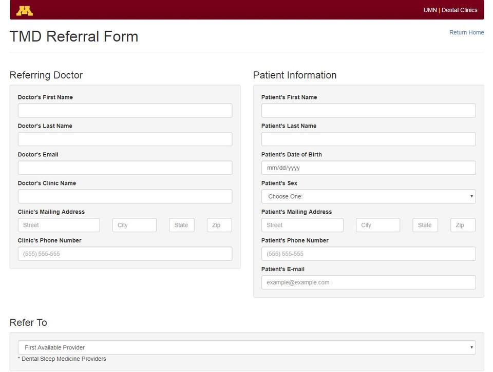 TMD Referral Form